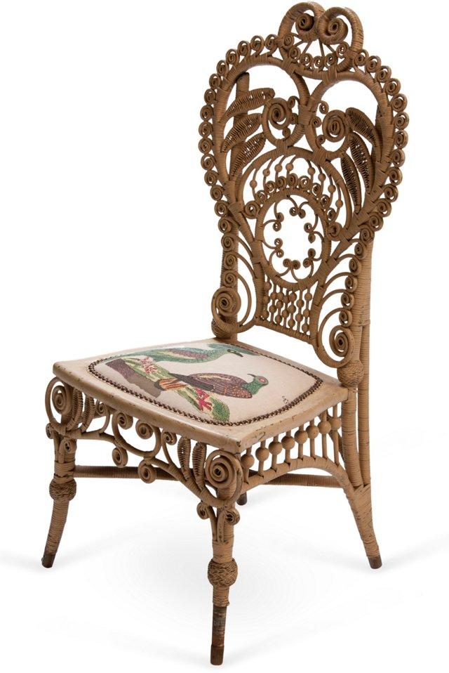 Heywood Wakefield Victorian Wicker Chair