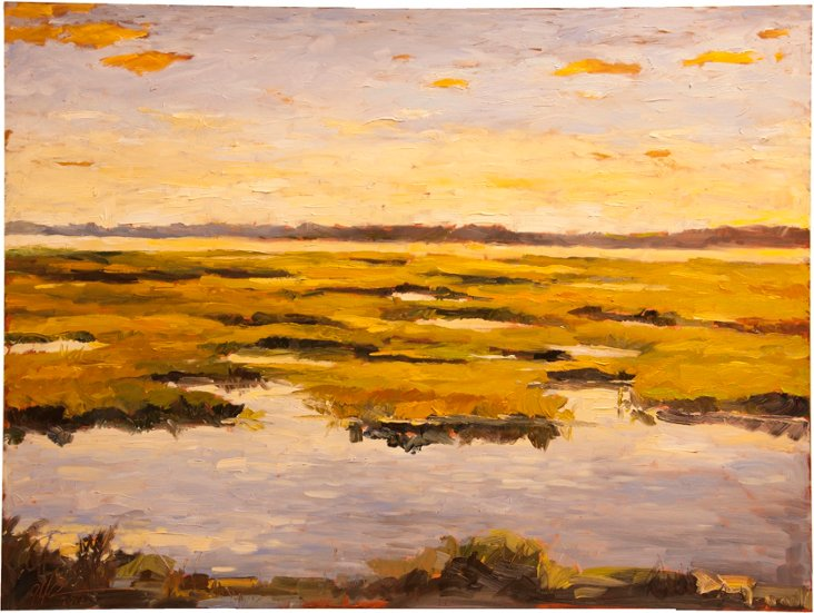 Oil Painting, Marsh Glaze