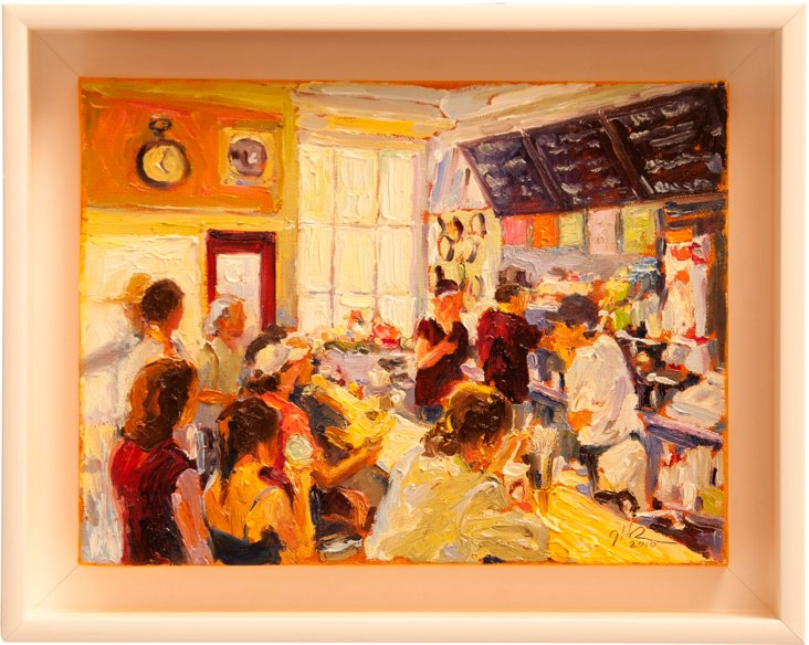 Oil Painting, Nantucket Luncheonette