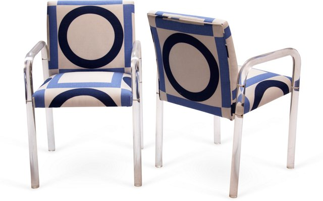 Lucite Chairs, Pair II