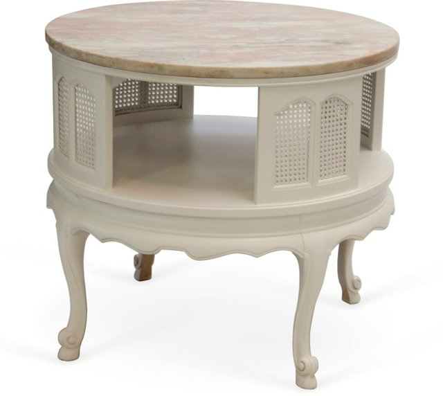 Pink Marble-Top Table
