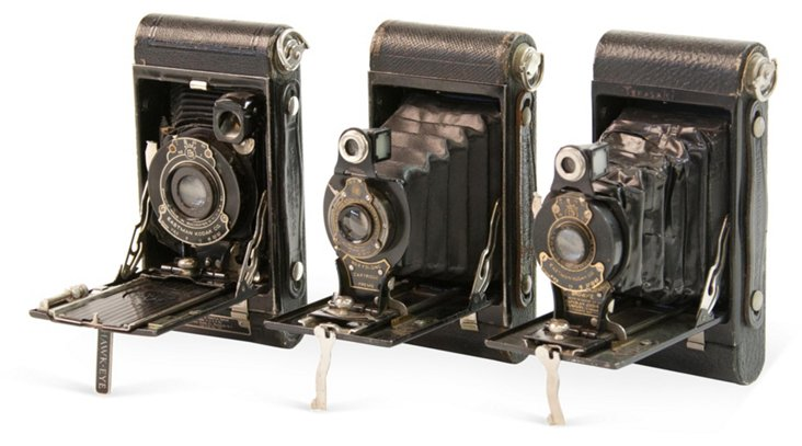 Vintage Kodak Cameras, Set of 3