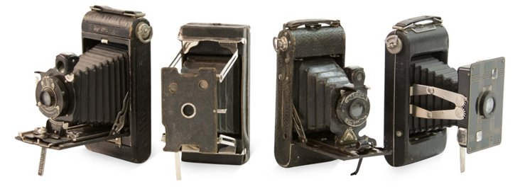 Vintage Cameras, Set of 4, II