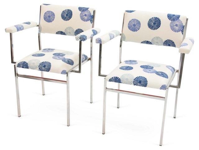 Chrome Chairs, Pair, I