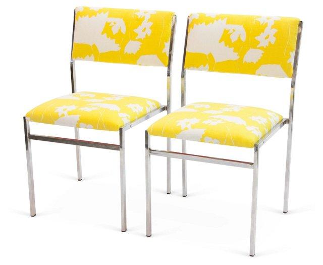 Chrome Chairs, Pair, II
