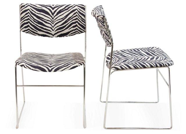 Italian Chrome Chairs, Pair