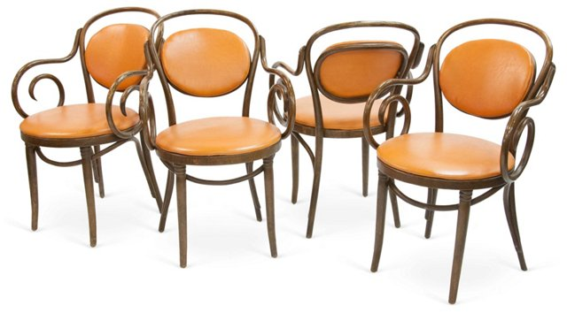 Thonet-Style Chairs, Set of 4