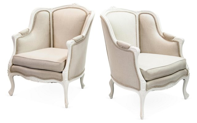 Victorian Parlor Chairs, Pair