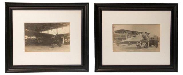 Aeroplane Photos II, Set of 2