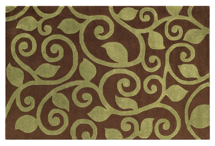 Wynton Rug, Brown/Green