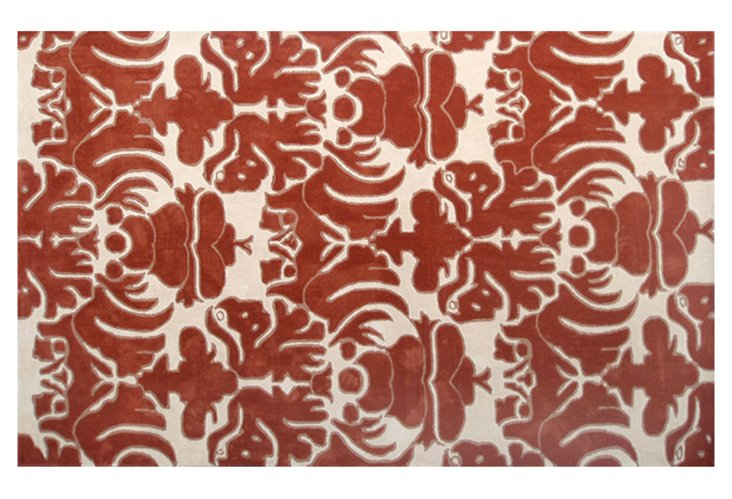 Clementine Rug, Red/Ivory