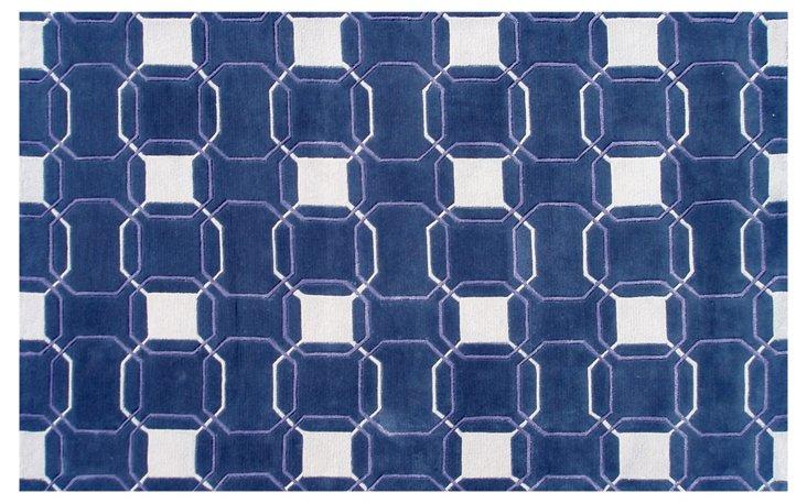 Mariod Rug, Royal Blue/Lavender