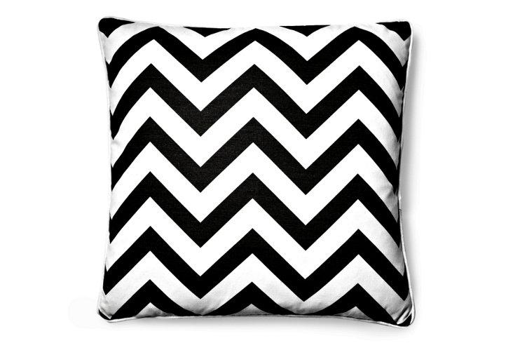 Chevron 20x20 Pillow, Black