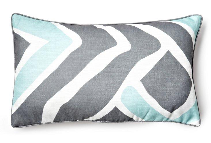 Caden 12x20 Pillow, Blue/Gray