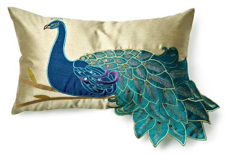 Peacock 12x20 Pillow, Teal