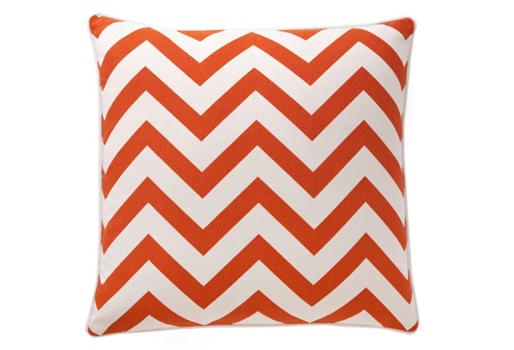 Chevron 20x20 Pillow, Burnt Orange