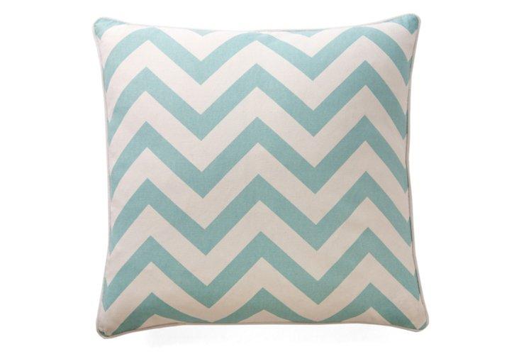 Chevron 20x20 Pillow, Harbor Gray