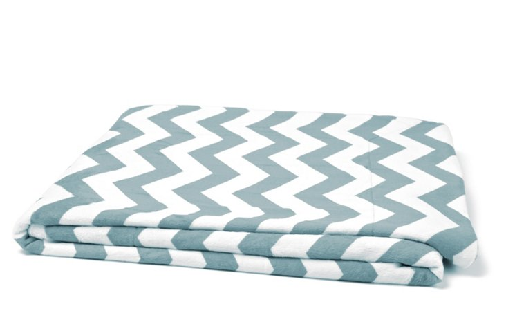 Chevron Throw, Harbor Gray