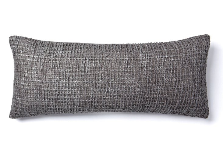 Nico 8x20 Pillow, Frost Gray