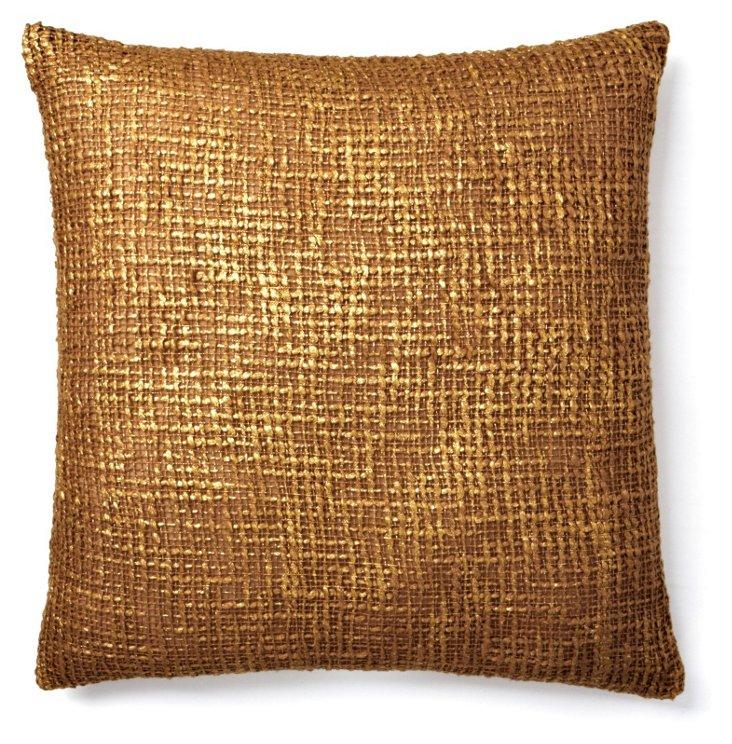 Nico 20x20 Pillow, Amphora/Gold