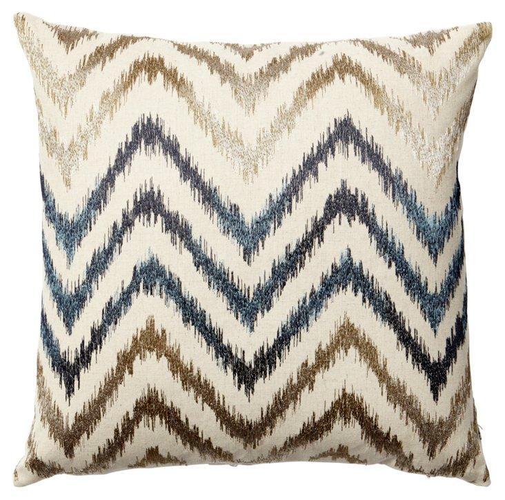 Ziggy 18x18 Pillow, Blue/Multi