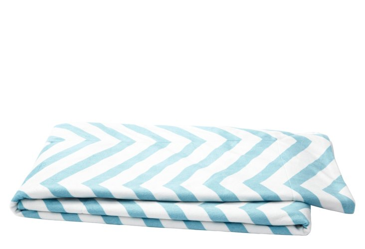 Chevron Throw, Maui Blue
