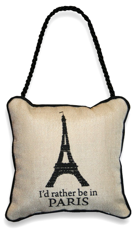 Door Hanger Pillow, Eiffel/Bienvenue