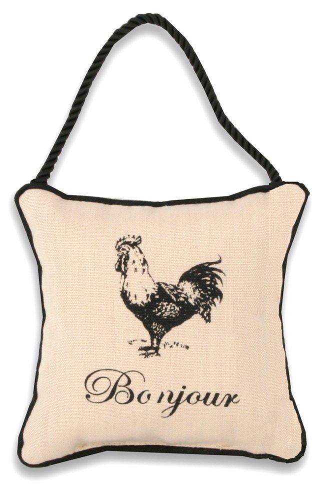 Door Hanger Pillow, French Rooster