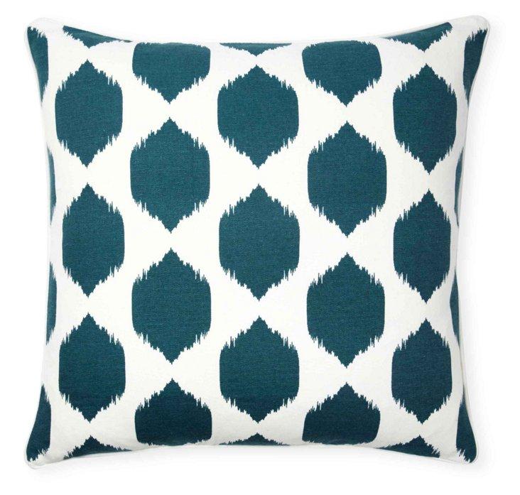 Isabella Ikat 20x20 Pillow, Teal