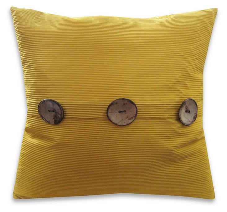 Porter 20x20 Satin Pillow, Lemon Curry