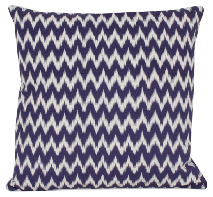 Ian Ikat 20x20 Pillow, Purple