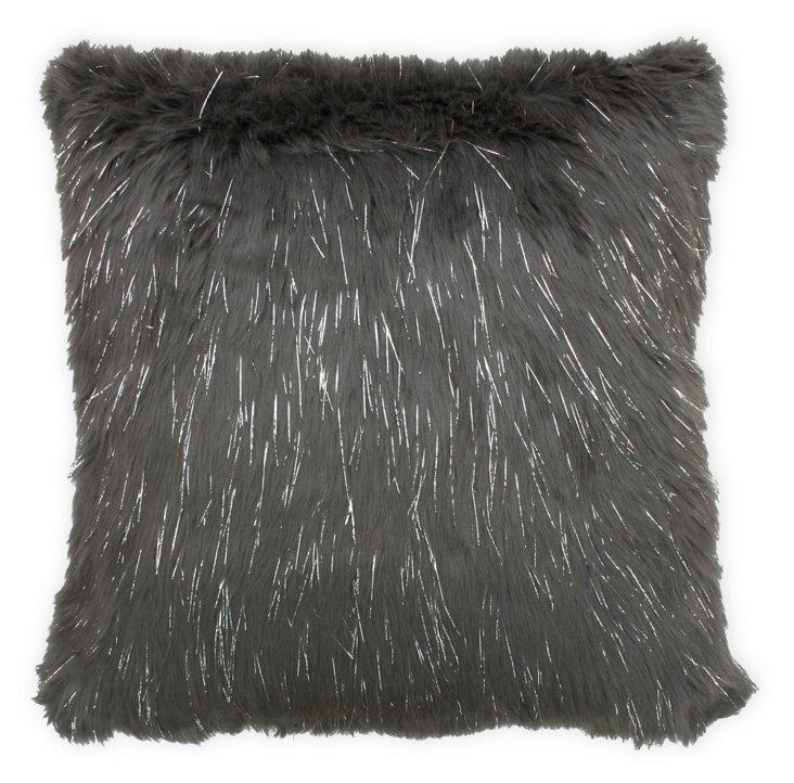 Kristy 20x20 Pillow, Charcoal