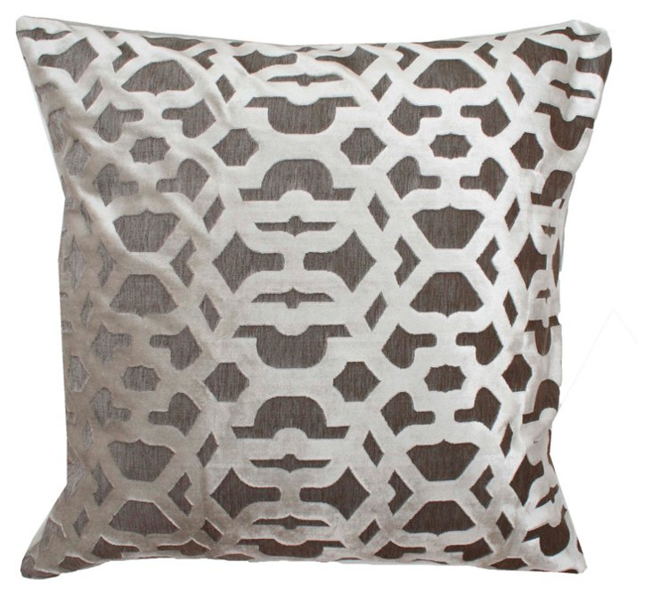 Damon 22x22 Pillow, Antique White