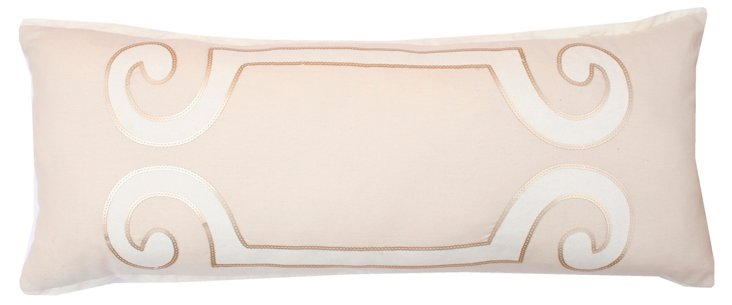 Harlow 12x30 Pillow, Natural/White