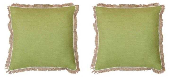 S/2 Cascade 20x20 Pillows, Lime Green
