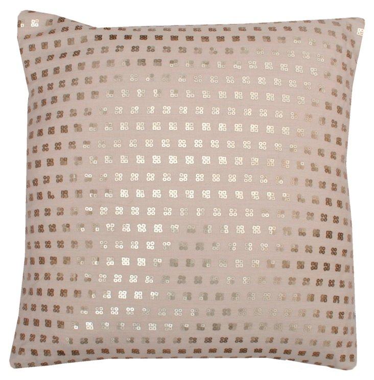 Petite Sequin 20x20 Pillow, Natural