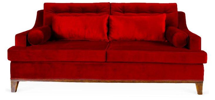 "Bravo 98"" Sofa, Ruby"
