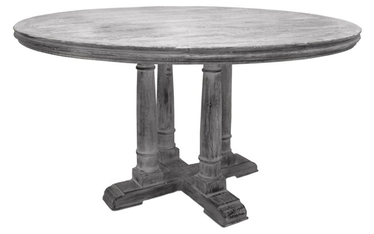 Gloria Round Dining Table, Gray
