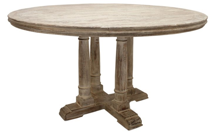 Gloria Round Dining Table, White