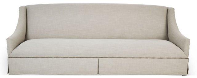 """Alana 95"""" Linen Sofa, Oatmeal"""