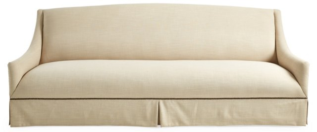 "Alana 95"" Linen Sofa, Sand"