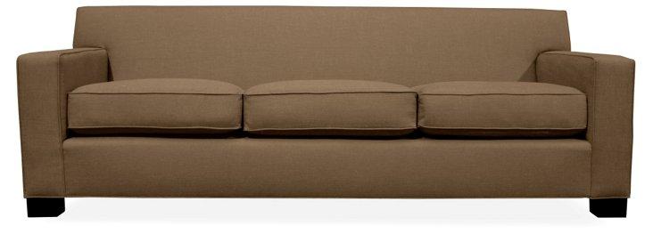 """Tina 90"""" Sofa, Brown"""