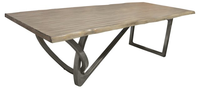 Prince Live-Edge Dining Table, Gray