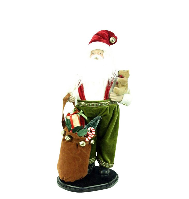 "12"" Santa on Stand w/ Gift Bundle"