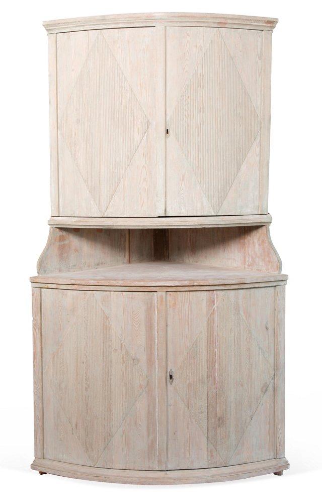Swedish Corner Cabinet