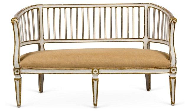 19th-C. Italian Louis XVI Bench