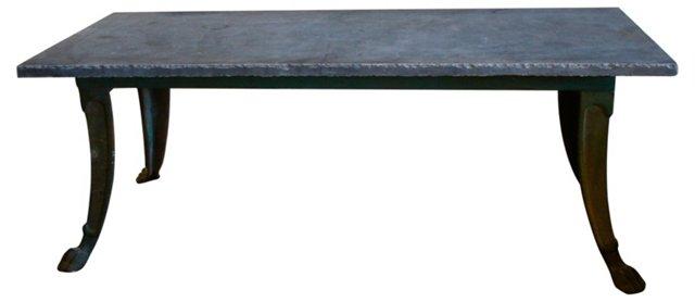 Iron Table w/ Belgian Bluestone Top