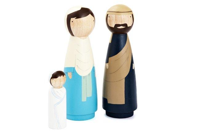 Mary, Joseph, & Baby, 3 Large Doll Set