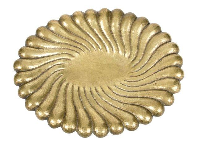 Vintage Italian Hammered Brass Bowl