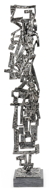 Monumental Silvered Bronze Sculpture